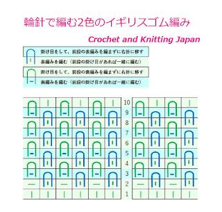 イギリスゴム編みの輪編み, how to knit brioche stitch around, 元宝针的圆织法