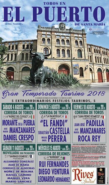cartel toros puerto santa maria 2018