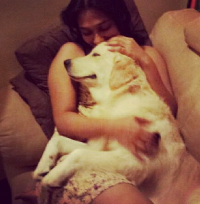 Upeksha Swarnamali With Her Pet
