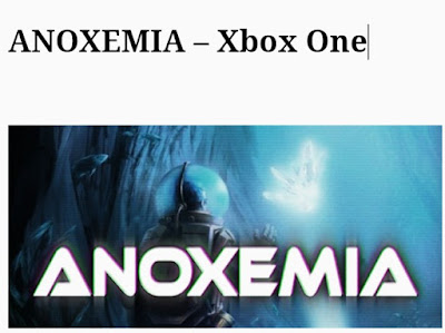 Anoxemia game In photo