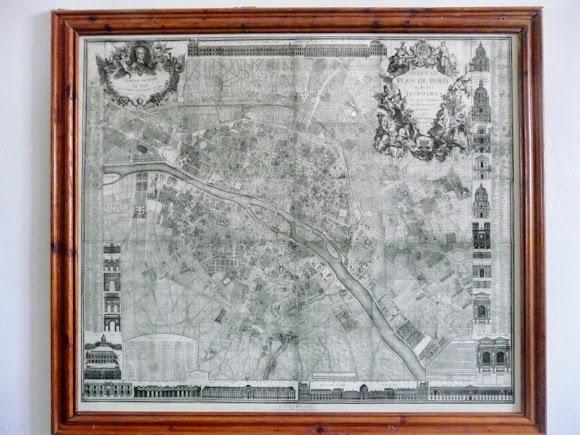 Золочів. Замок. Великий палац. Інтер'єри 17 – 18 ст. План Парижа