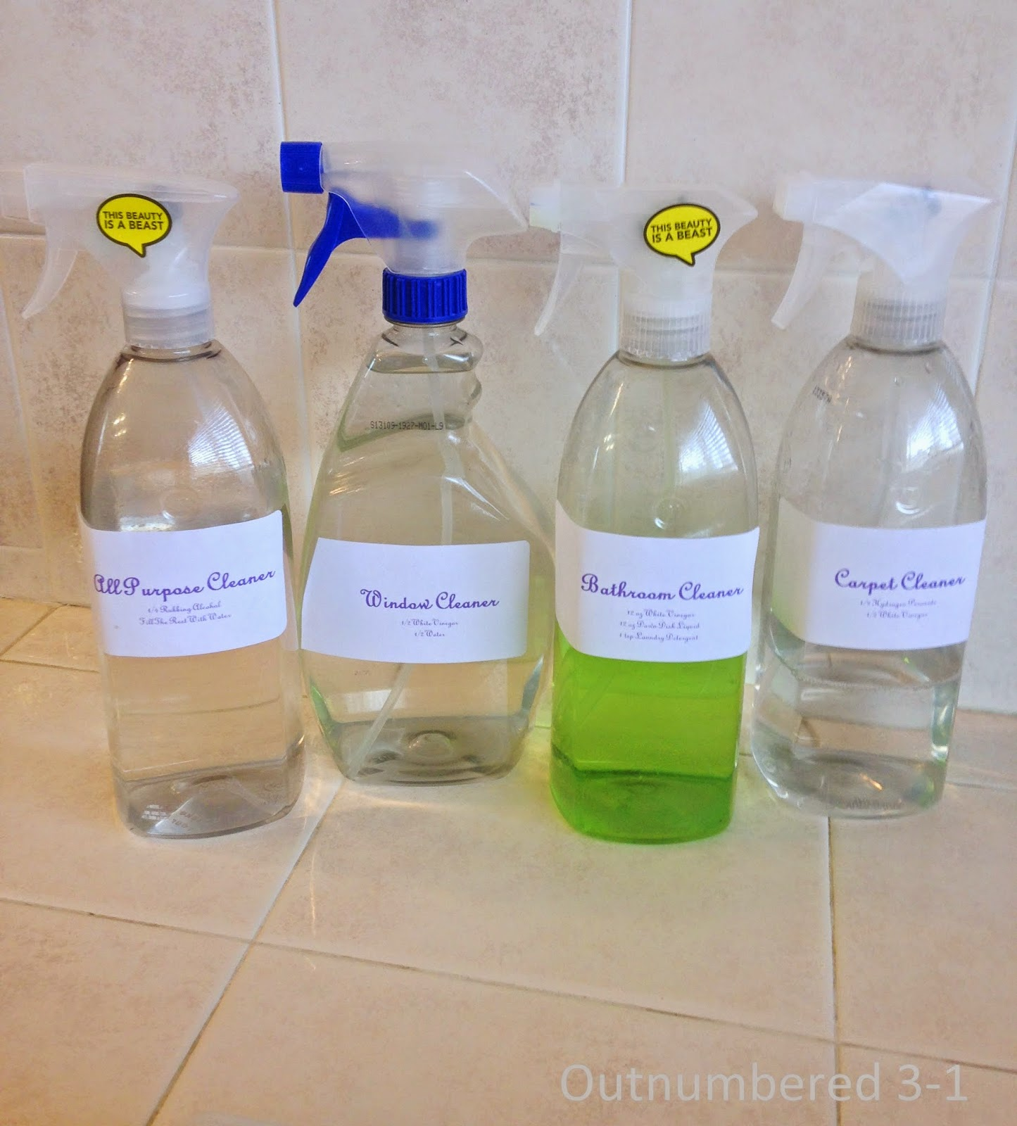 DIY Non-Toxic Bathroom Cleaner, Non-Toxic Bathroom Cleaner, Cleaners, DIY Cleaners