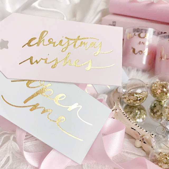 Paperchase | Pastel Christmas Gift Tags with Gold Foil Script
