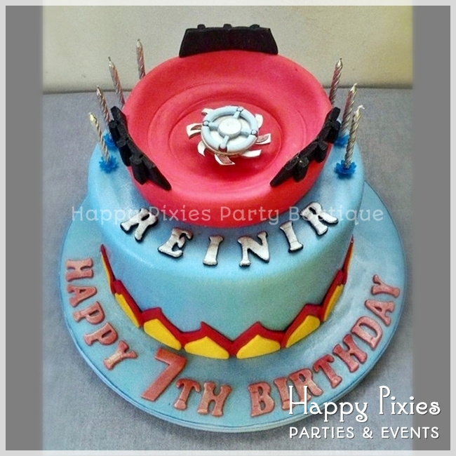 Happy Pixies Party Boutique Reinirs Beyblade Themed 7th Birthday