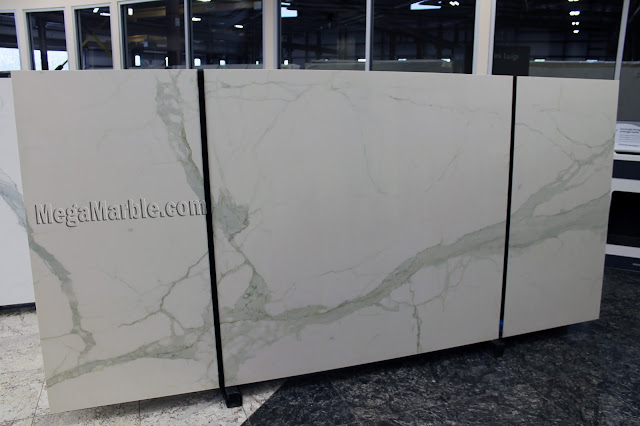 Calacatta Porcelain Slabs For Countertops & Shower Walls