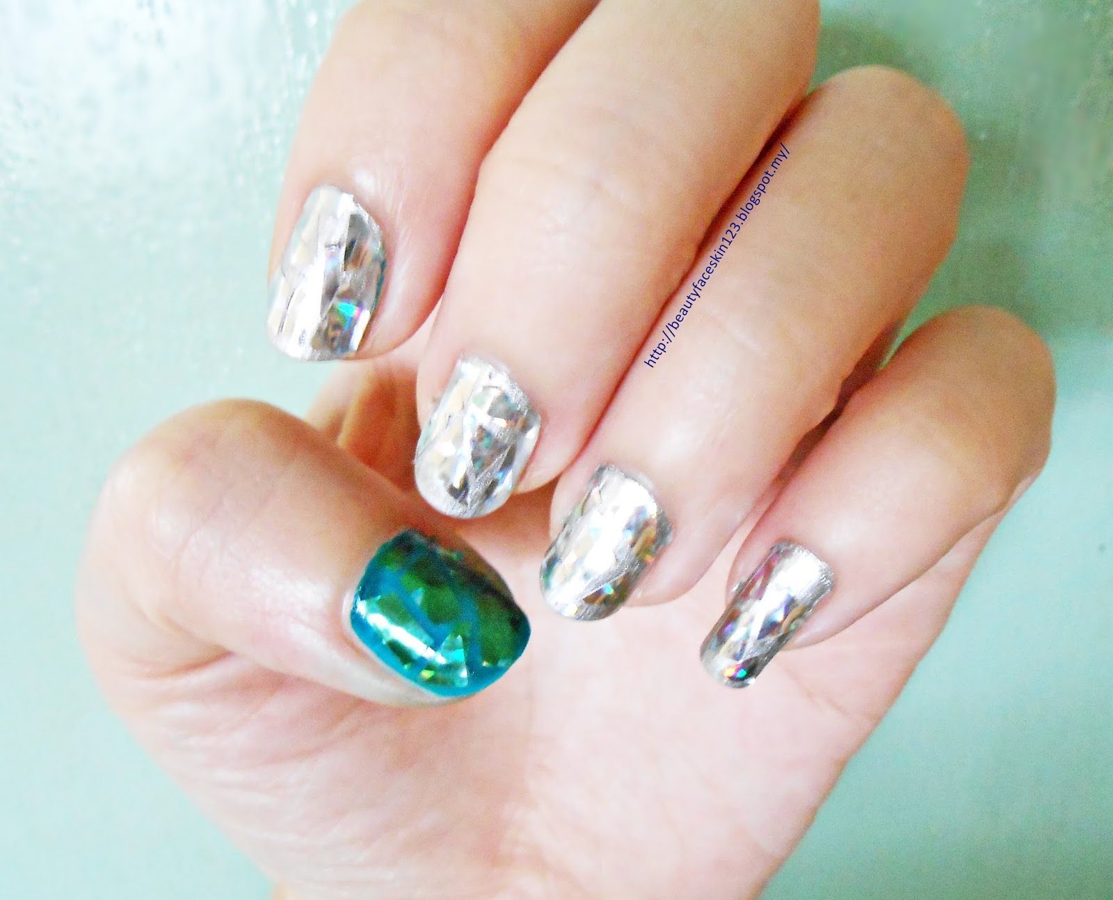 Great skinlife easy shattered glass nail art tutorial easy shattered glass nail art prinsesfo Choice Image