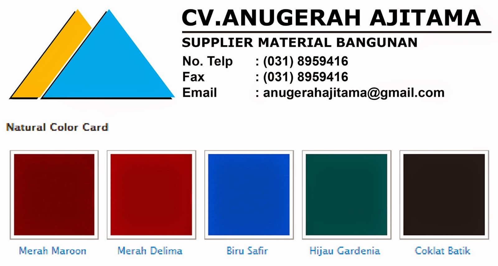 WARNA NATURAL GENTENG METAL RAINBOW