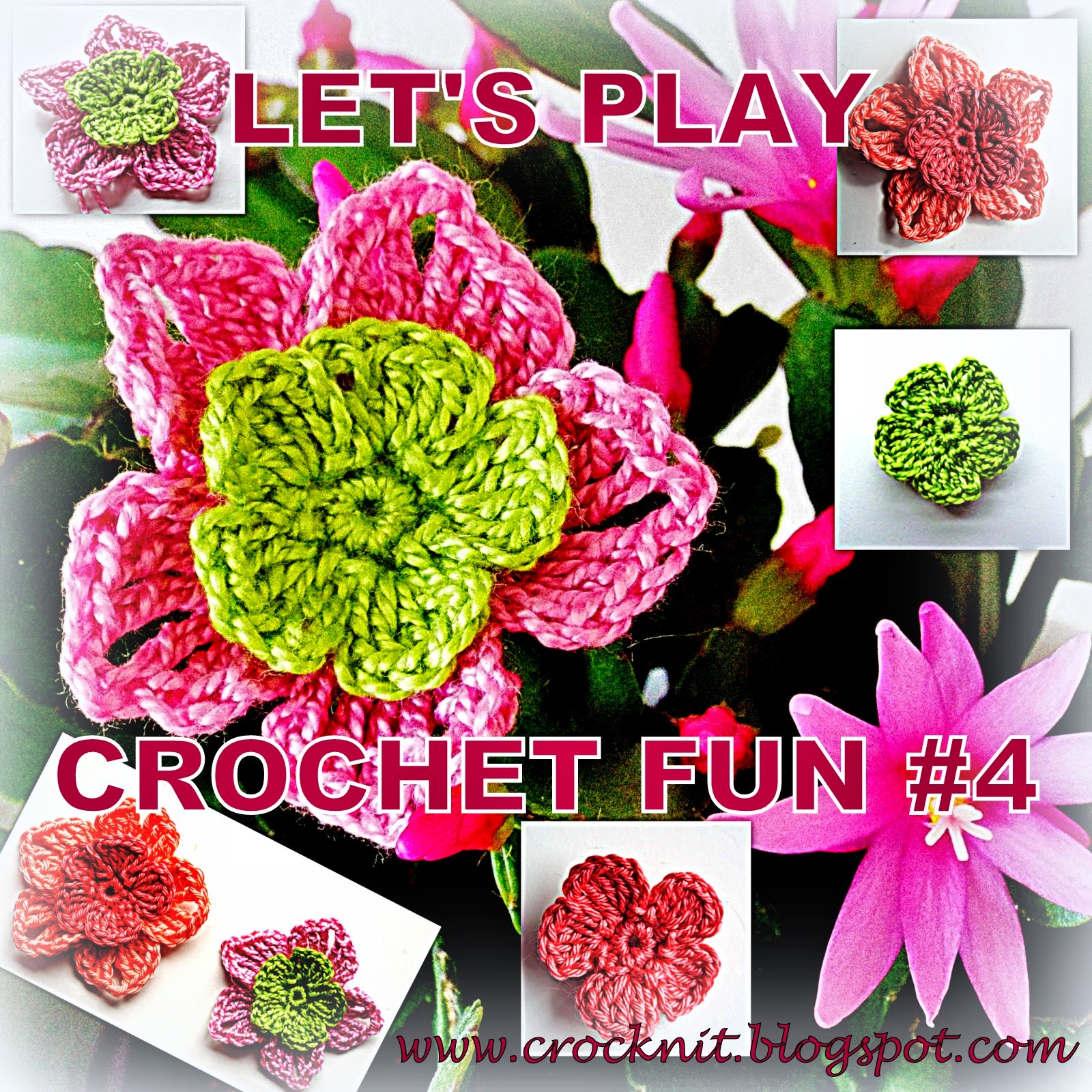 free crochet patterns five petal flowers