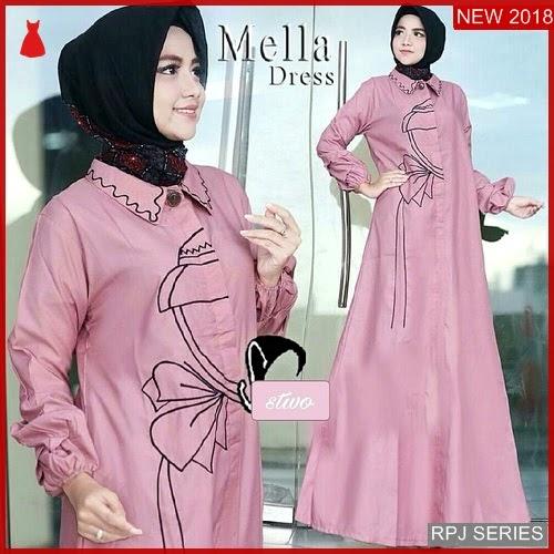 RPJ056D163 Model Dress Mella Cantik Dress Wanita