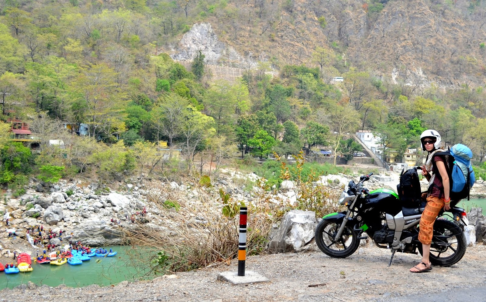 Woman Traveling Solo in Rishikesh