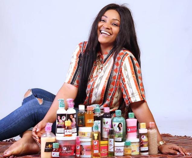 mercy aigbe skin care bleaching business