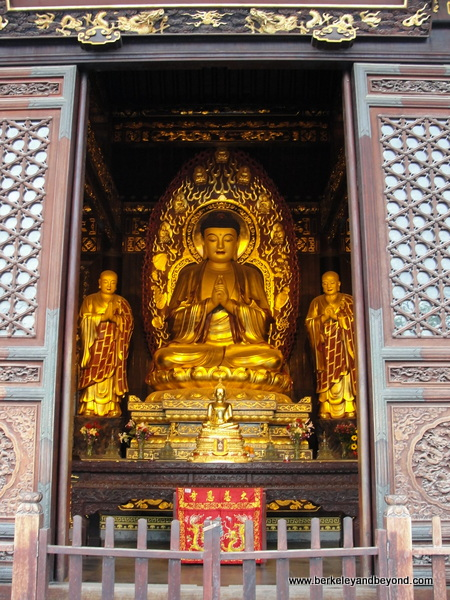buddha in building at Big Wild Goose Pagoda in Xi'an, China