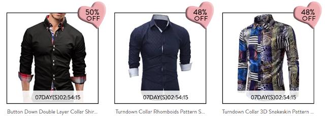 Camisas masculinas, dias dos namorados, Wishlist Loja Gamiss Valentine's Day Sale