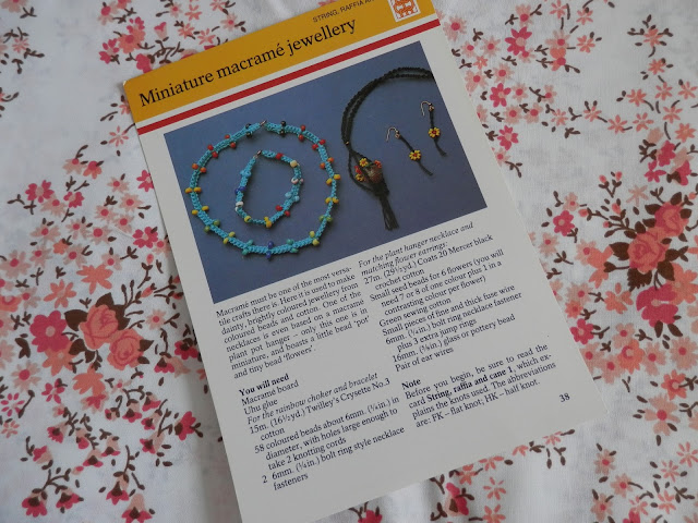 Retro Seventies Crafts 1970s macrame jewellery secondhandsusie.blogspot.co.uk