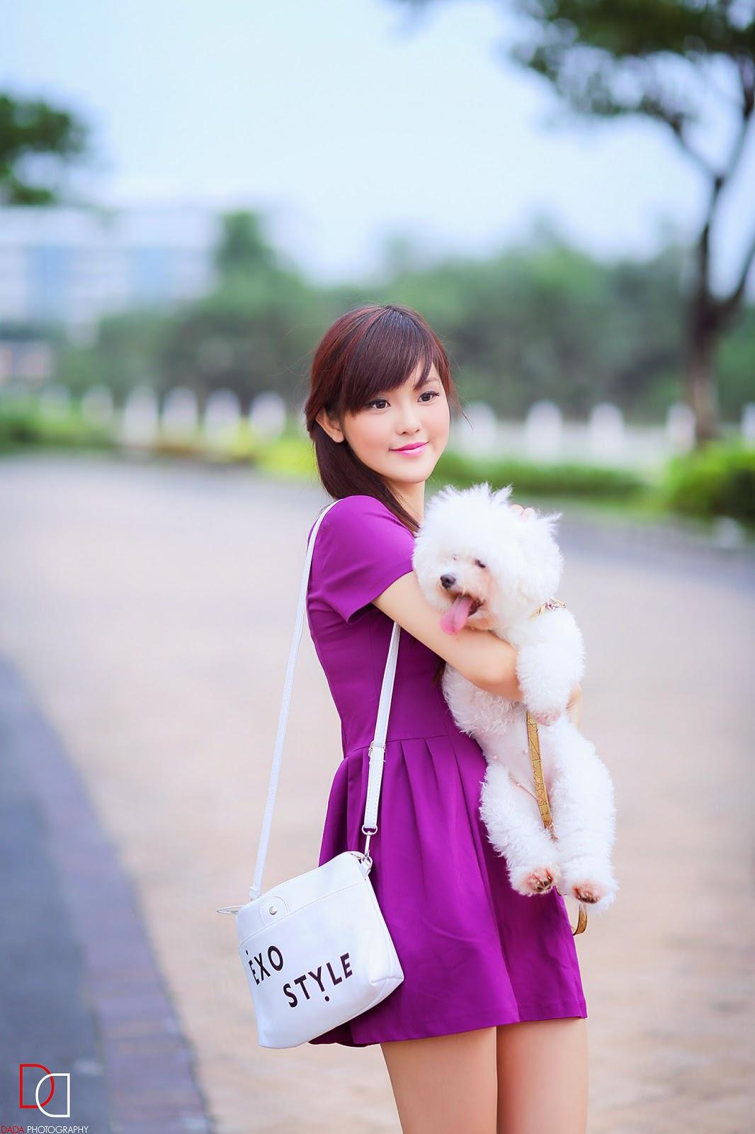 Girl xinh cùng chiếc váy tím