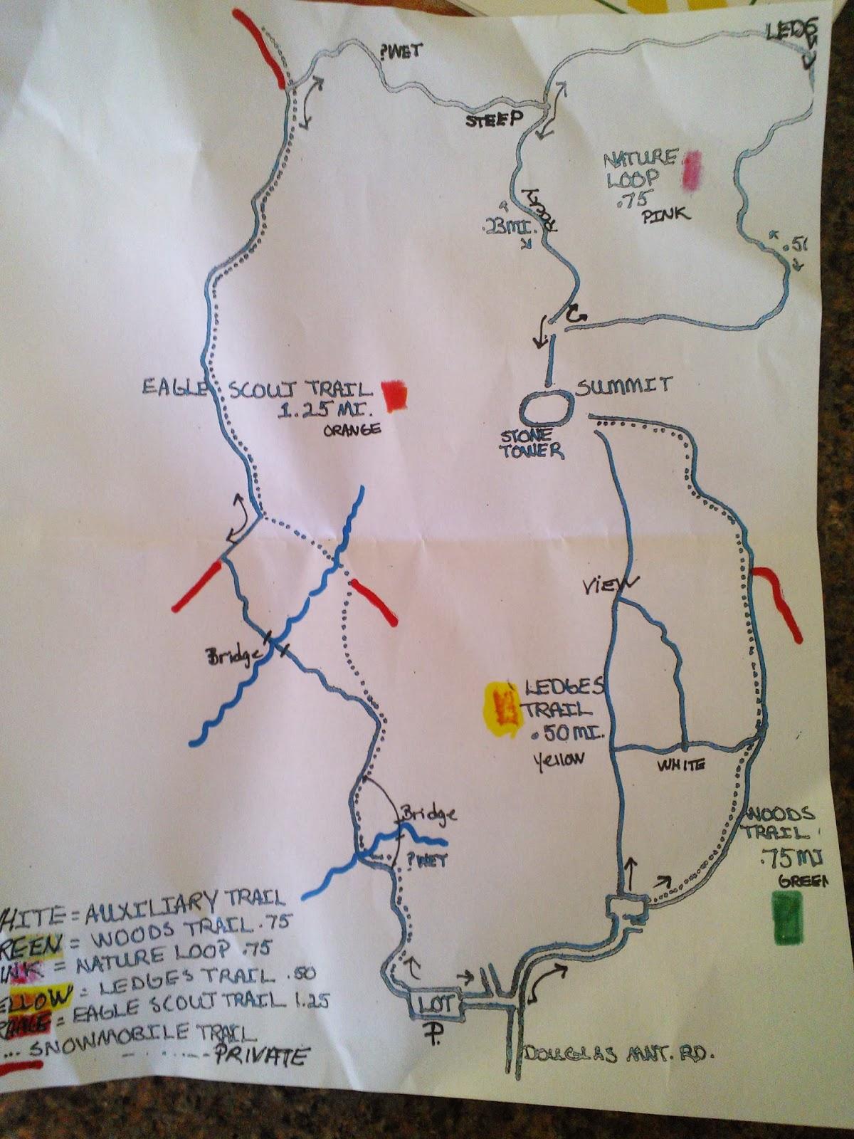 Adventures with renee douglas mountain baldwinsebago maine douglas mountain trail map publicscrutiny Images