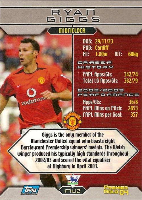Topps Premier Gold 2004 L7 Liverpool Milan Baros