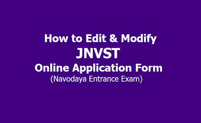JNVST 2020 Online Application Form Correction Process Ends on October 7