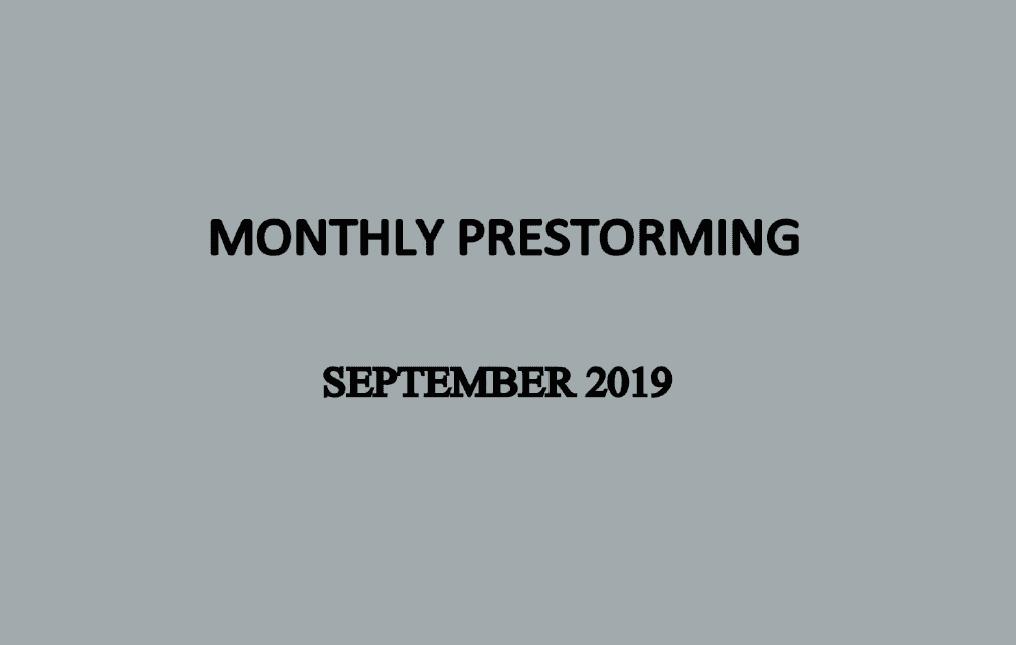 UPSC Monthly Prestorming - September 2019 for UPSC Prelims 2019
