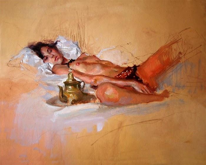 Маслом в стиле импрессионизм. Ramon Gutierrez