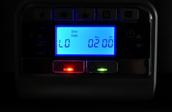 digital panel on slow cooker