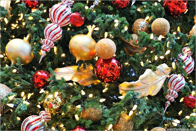 Holiday Glamour 2017 del Hotel Bellagio: Adornos del Árbol de Navidad