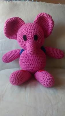 eli la elefanta amigurumi patron de canal crochet