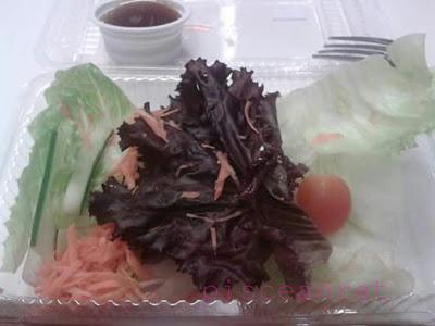 kfc salad, salad in fastfood,