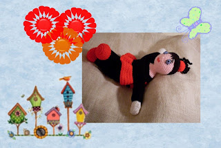 crocheted funmigurumi ladybug dolly pattern
