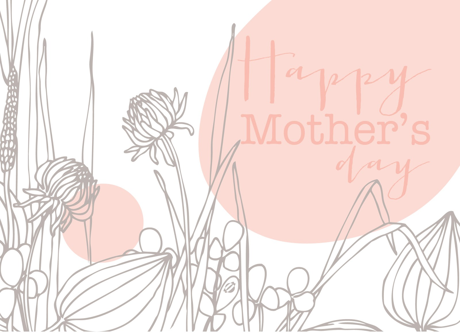 LostBumblebee ©2014 Mother's Day Card 5x7 Free Printable Personal use