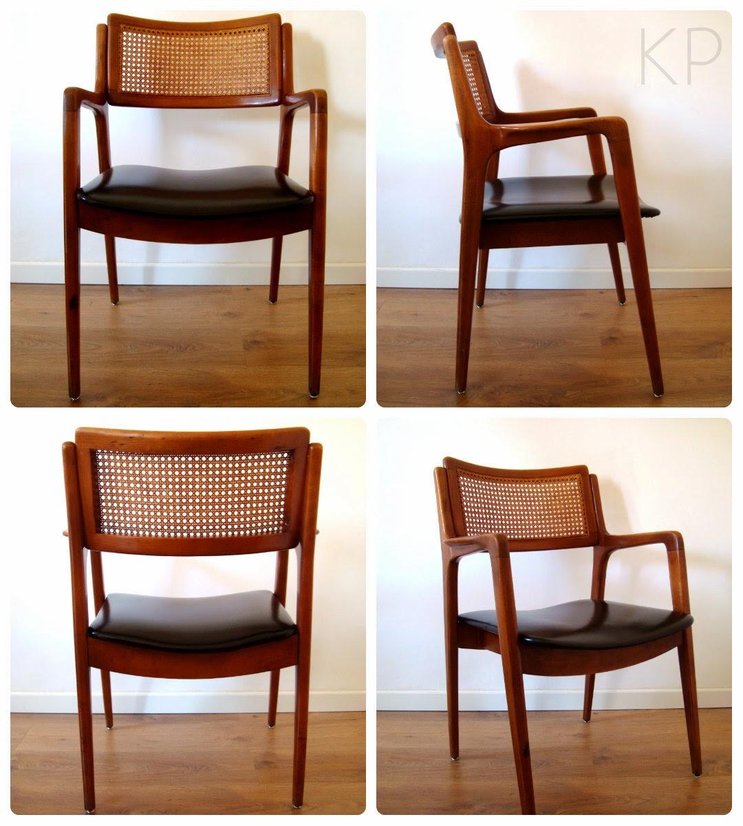 Conjuntos de 4 sillas danesas para comedor. Sillas vintage online. Venta de muebles daneses.
