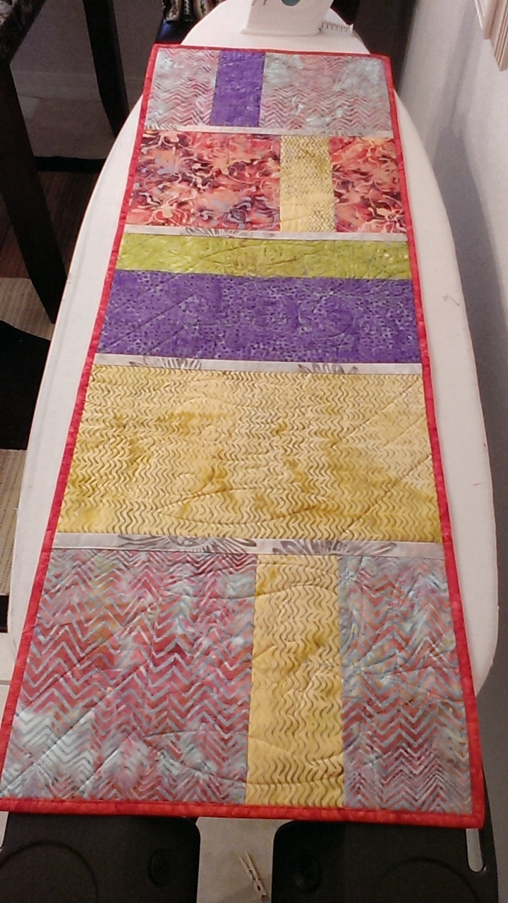 Quilt Knit Run Sew Owl Table Runner Quilt As You Go Style