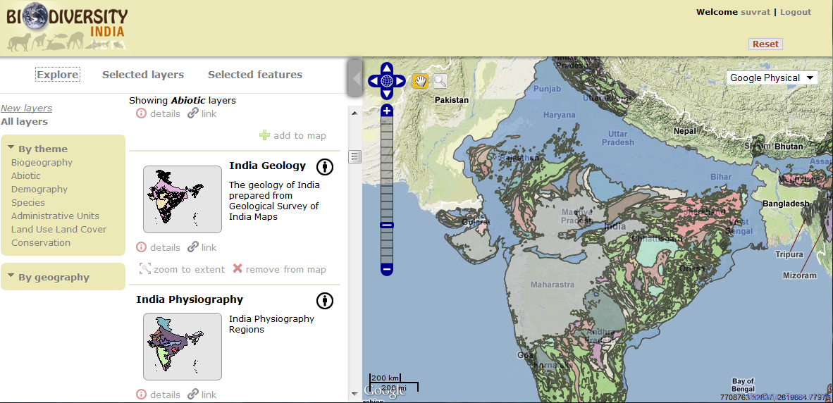 Geological Map Of India.Rapid Uplift Online Interactive Geological Map Of India