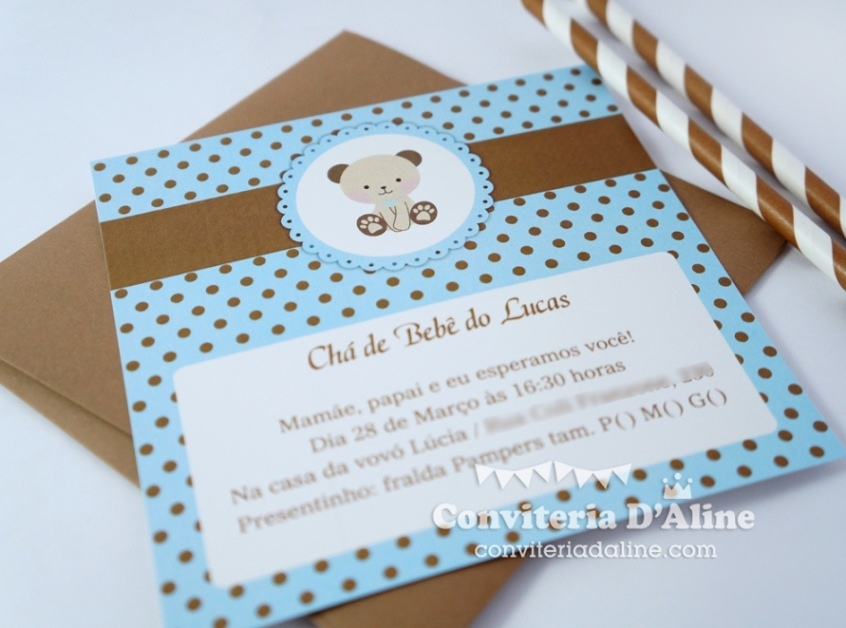 ursinho-convitejpg (846×628) Chá de bebê - ursinho Pinterest - diaper invitation
