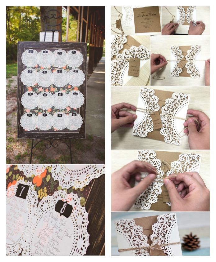 Una pizca de hogar 11 usos de las blondas en tu boda - Blondas de papel ...
