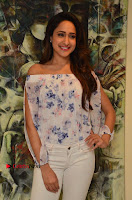 Actress Pragya Jaiswal Latest Pos in White Denim Jeans at Nakshatram Movie Teaser Launch  0070.JPG