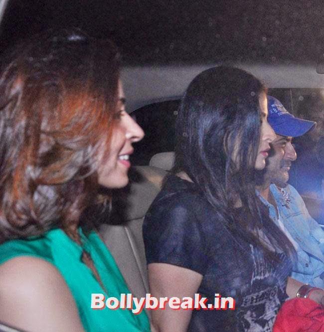 Bhawna Pandey, Maheep Kapoor and Sanjay Kapoor, Celebs at Heropanti Special Screening
