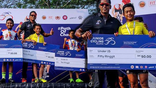 RM30 Juara Junior Cycle Anjuran Kementerian Belia Dan Sukan