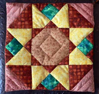 Dazzling Star cushion quilted
