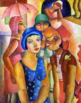 Cinco Mulheres de Guaratinguetá - Di Cavalcante e suas principais pinturas ~ Pintando a realidade brasileira