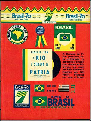 semana da pátria de 1970; Brasil anos 70; ufanismo Brasil década de 70; Oswaldo Hernandez,