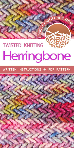KnittingStitches.org -- The Art Knitting. Herringbone stitch, this is one of the best knitting stitches #knittingstitches