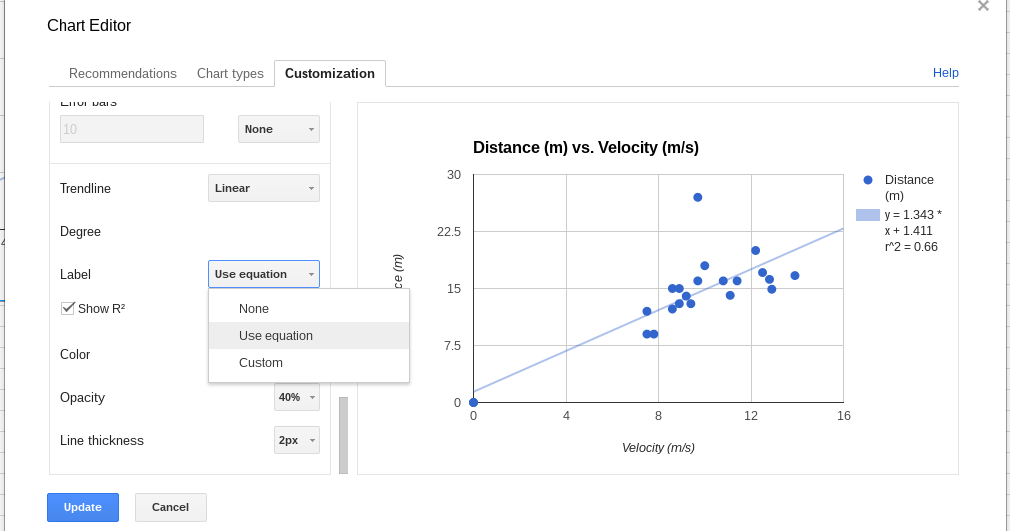 how to make an xy graph in google sheets