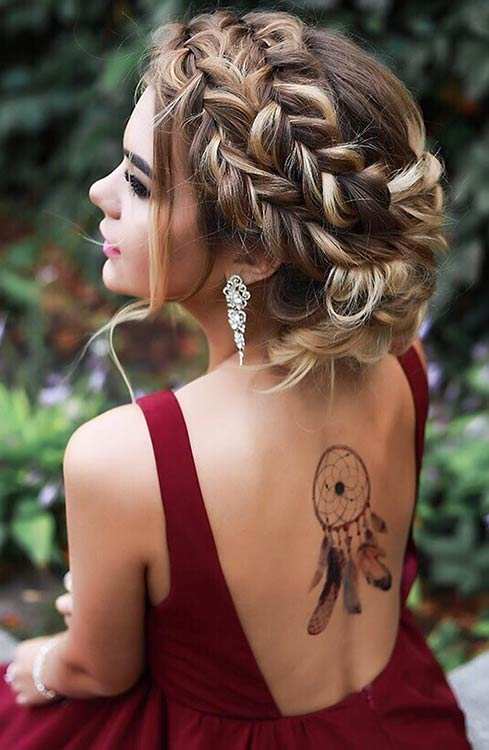 BOHO BRAIDED UPDO prom long hair - cool prom hairstyles