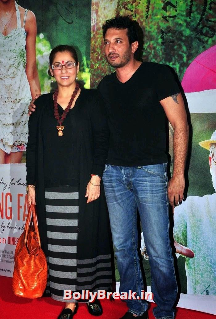 Dimple Kapadia, Homi Adajania, Deepika, arjun, Hrithik Pics from Finding Fanny Movie Screening