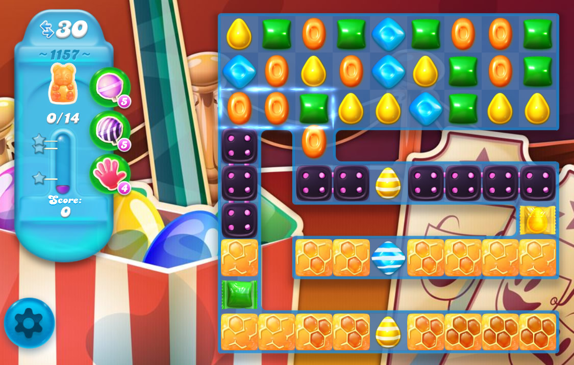 Candy Crush Soda Saga level 1157