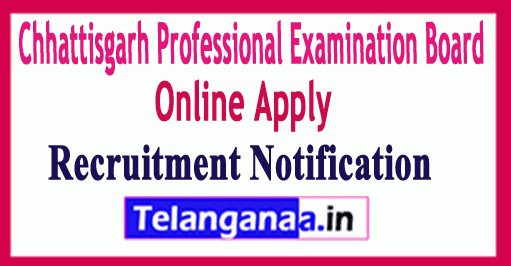 Chhattisgarh Professional Examination Board CG VYAPAM Recruitment Notification