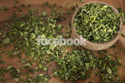 Moringa powder is full of vitamins.