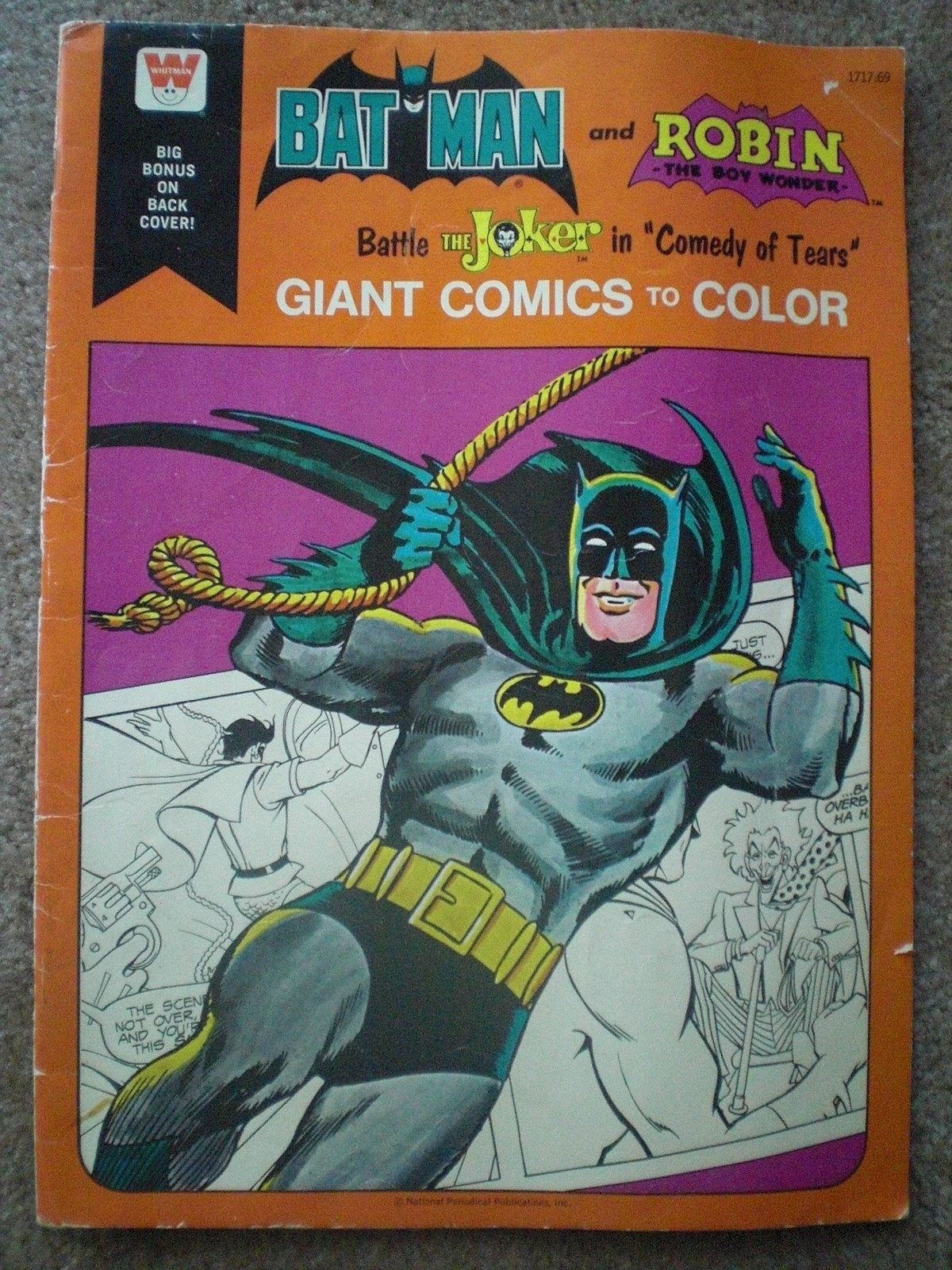 the bat channel   vintage batman coloring books