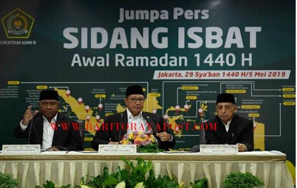 Pemerintah Menetapkan Awal Ramadan 1440 H Jatuh pada 6 Mei 2019